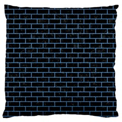 Brick1 Black Marble & Blue Colored Pencil Standard Flano Cushion Case (two Sides) by trendistuff