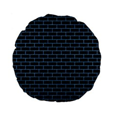 Brick1 Black Marble & Blue Colored Pencil Standard 15  Premium Flano Round Cushion  by trendistuff