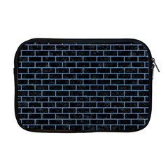Brick1 Black Marble & Blue Colored Pencil Apple Macbook Pro 17  Zipper Case by trendistuff