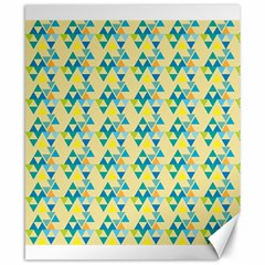 Colorful Triangle Pattern Canvas 8  X 10  by berwies