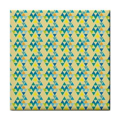 Colorful Triangle Pattern Face Towel by berwies