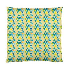 Colorful Triangle Pattern Standard Cushion Case (two Sides) by berwies