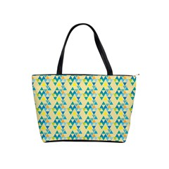 Colorful Triangle Pattern Shoulder Handbags by berwies