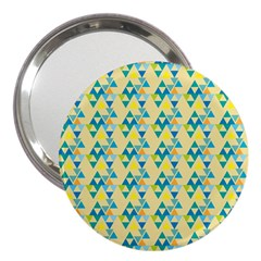 Colorful Triangle Pattern 3  Handbag Mirrors by berwies