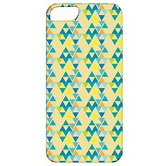 Colorful Triangle Pattern Apple Iphone 5 Classic Hardshell Case by berwies