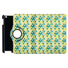 Colorful Triangle Pattern Apple Ipad 3/4 Flip 360 Case by berwies