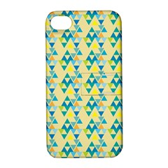 Colorful Triangle Pattern Apple Iphone 4/4s Hardshell Case With Stand by berwies