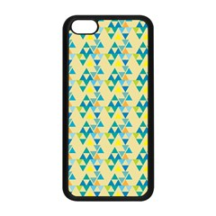 Colorful Triangle Pattern Apple Iphone 5c Seamless Case (black) by berwies