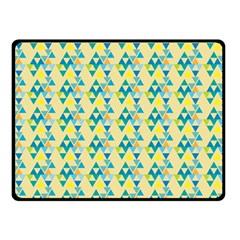 Colorful Triangle Pattern Double Sided Fleece Blanket (small)  by berwies