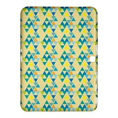 Colorful Triangle Pattern Samsung Galaxy Tab 4 (10 1 ) Hardshell Case  by berwies