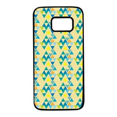 Colorful Triangle Pattern Samsung Galaxy S7 Black Seamless Case by berwies