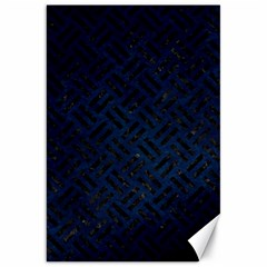 Woven2 Black Marble & Blue Grunge (r) Canvas 20  X 30
