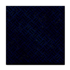 Woven2 Black Marble & Blue Grunge (r) Face Towel by trendistuff