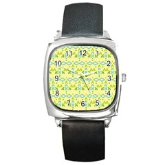 Simple Tribal Pattern Square Metal Watch by berwies