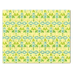Simple Tribal Pattern Rectangular Jigsaw Puzzl by berwies