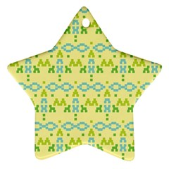 Simple Tribal Pattern Star Ornament (two Sides) by berwies