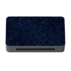 Woven2 Black Marble & Blue Grunge (r) Memory Card Reader With Cf by trendistuff