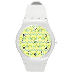 Simple Tribal Pattern Round Plastic Sport Watch (m)