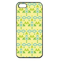 Simple Tribal Pattern Apple Iphone 5 Seamless Case (black) by berwies