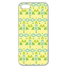 Simple Tribal Pattern Apple Seamless Iphone 5 Case (clear) by berwies