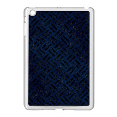 Woven2 Black Marble & Blue Grunge (r) Apple Ipad Mini Case (white) by trendistuff