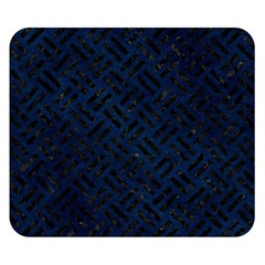 Woven2 Black Marble & Blue Grunge (r) Double Sided Flano Blanket (small) by trendistuff