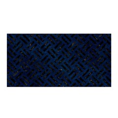 Woven2 Black Marble & Blue Grunge (r) Satin Wrap by trendistuff