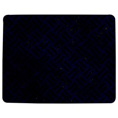 Woven2 Black Marble & Blue Grunge (r) Jigsaw Puzzle Photo Stand (rectangular) by trendistuff