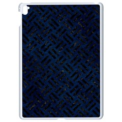 Woven2 Black Marble & Blue Grunge (r) Apple Ipad Pro 9 7   White Seamless Case by trendistuff