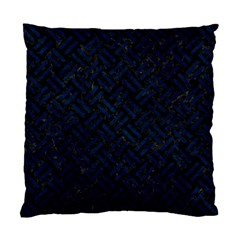 Woven2 Black Marble & Blue Grunge Standard Cushion Case (two Sides) by trendistuff
