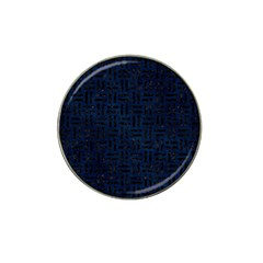 Woven1 Black Marble & Blue Grunge (r) Hat Clip Ball Marker by trendistuff