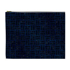 Woven1 Black Marble & Blue Grunge (r) Cosmetic Bag (xl) by trendistuff