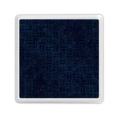 Woven1 Black Marble & Blue Grunge (r) Memory Card Reader (square) by trendistuff
