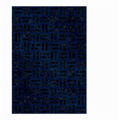 Woven1 Black Marble & Blue Grunge (r) Small Garden Flag (two Sides) by trendistuff
