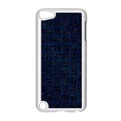 Woven1 Black Marble & Blue Grunge (r) Apple Ipod Touch 5 Case (white) by trendistuff