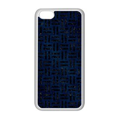 Woven1 Black Marble & Blue Grunge (r) Apple Iphone 5c Seamless Case (white) by trendistuff