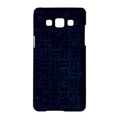 Woven1 Black Marble & Blue Grunge (r) Samsung Galaxy A5 Hardshell Case  by trendistuff
