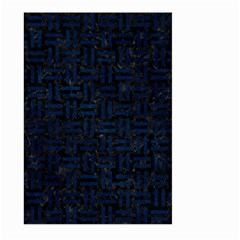 Woven1 Black Marble & Blue Grunge Large Garden Flag (two Sides) by trendistuff