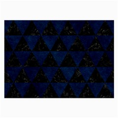 Triangle3 Black Marble & Blue Grunge Large Glasses Cloth by trendistuff