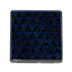 Triangle3 Black Marble & Blue Grunge Memory Card Reader (square) by trendistuff