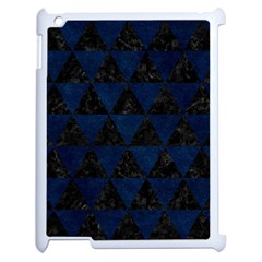 Triangle3 Black Marble & Blue Grunge Apple Ipad 2 Case (white) by trendistuff