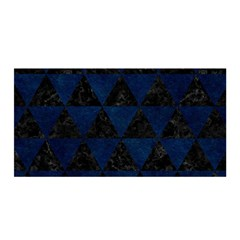 Triangle3 Black Marble & Blue Grunge Satin Wrap