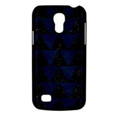 Triangle2 Black Marble & Blue Grunge Samsung Galaxy S4 Mini (gt I9190) Hardshell Case  by trendistuff