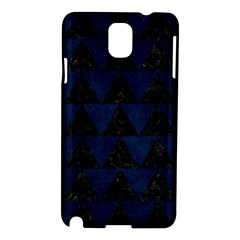 Triangle2 Black Marble & Blue Grunge Samsung Galaxy Note 3 N9005 Hardshell Case by trendistuff