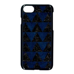 Triangle2 Black Marble & Blue Grunge Apple Iphone 7 Seamless Case (black) by trendistuff