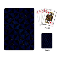 Triangle1 Black Marble & Blue Grunge Playing Cards Single Design by trendistuff