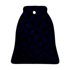 Triangle1 Black Marble & Blue Grunge Ornament (bell) by trendistuff