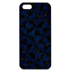 Triangle1 Black Marble & Blue Grunge Apple Iphone 5 Seamless Case (black) by trendistuff