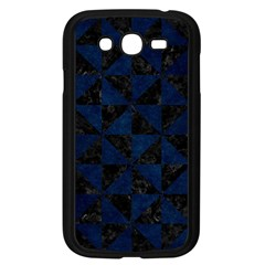 Triangle1 Black Marble & Blue Grunge Samsung Galaxy Grand Duos I9082 Case (black) by trendistuff