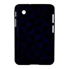 Triangle1 Black Marble & Blue Grunge Samsung Galaxy Tab 2 (7 ) P3100 Hardshell Case  by trendistuff